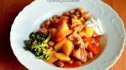 Фото рецепта Чанахи с фасолью и кинзой