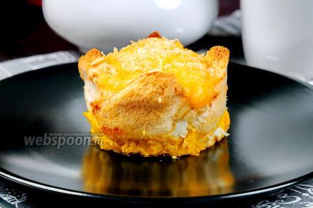 Сэндвич с омлетом в горшочках. Видео видео