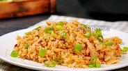 Фото рецепта Рис с беконом и яйцом. Видео