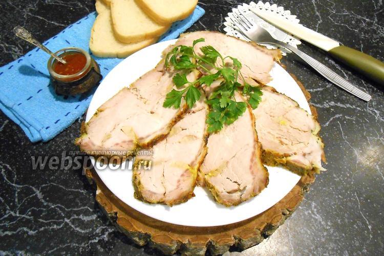 Фото Ароматная буженина из свинины в рукаве