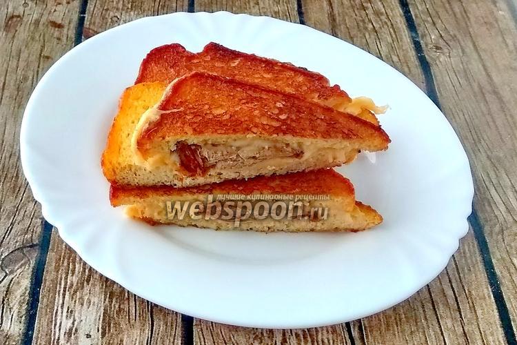 Фото Сэндвичи из мясного хлеба, сыра и свинины