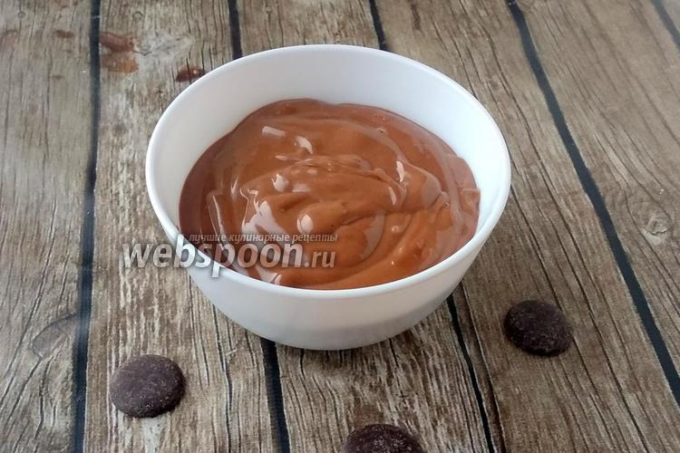 Фото Шоколадный кето соус из сливочного масла