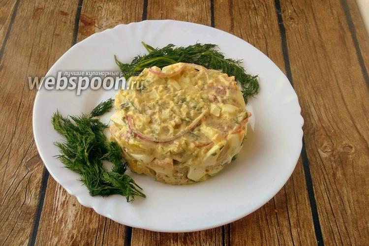 Фото Салат из авокадо, яиц  и запечённого бекона