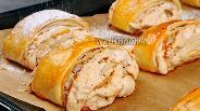 Фото рецепта Слоёные пирожные с безе. Видео