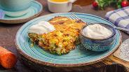 Фото рецепта Творожно-рисовая запеканка с морковью