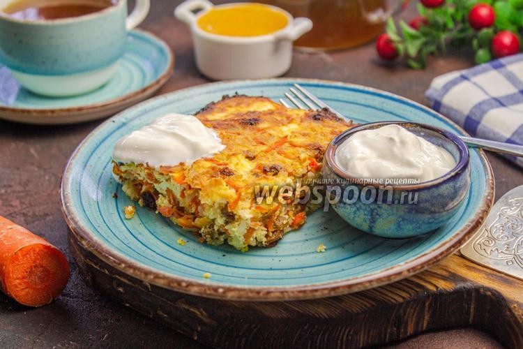 Фото Творожно-рисовая запеканка с морковью
