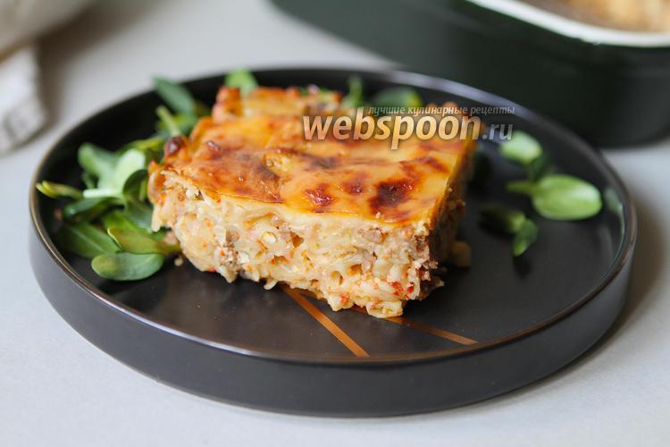 Фото Безглютеновая мясная запеканка с макаронами в духовке