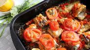 Фото рецепта Навага запечённая в духовке с овощами