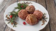 Фото рецепта Мясные тефтели с печенью и клюквой