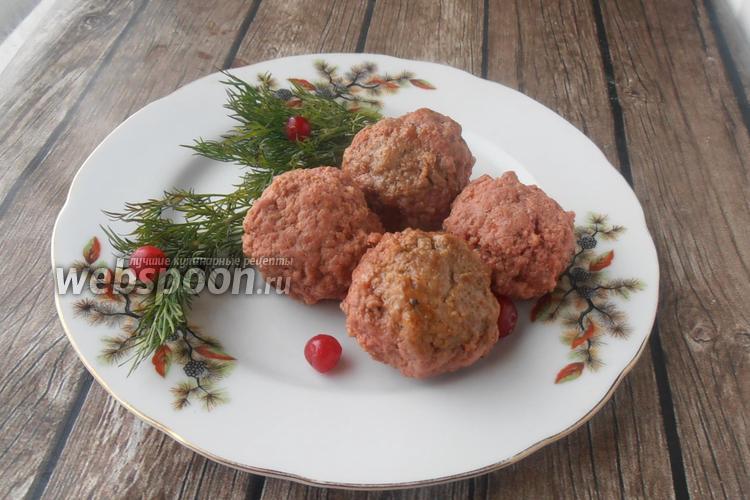 Фото Мясные тефтели с печенью и клюквой
