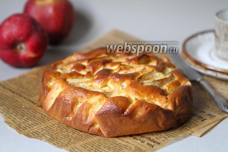 Фото Творожный пирог с яблоками на рисовой муке