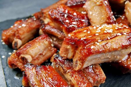 Свиные рёбрышки в духовке. 4 новых рецепта. Видео видео рецепт
