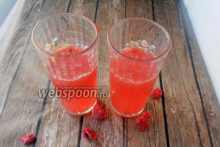 Фото Кето лимонад из малины и клубники