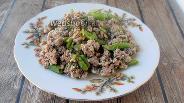 Фото рецепта Зелёная фасоль с фаршем, бульоном и яйцами