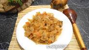 Фото рецепта Тушёная капуста с мясом в мультиварке