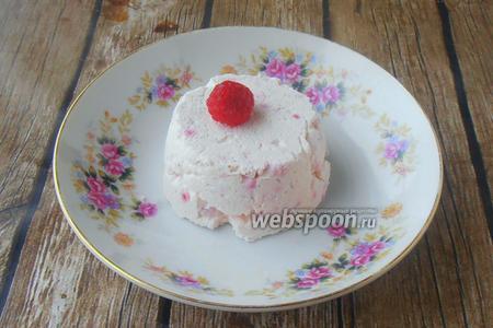 Фото рецепта Малиновое суфле