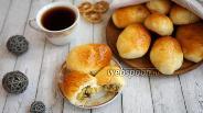 Фото рецепта Пирожки с картофелем, грибами и сыром в духовке