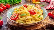 Фото рецепта Паста с запечёнными черри и фетой