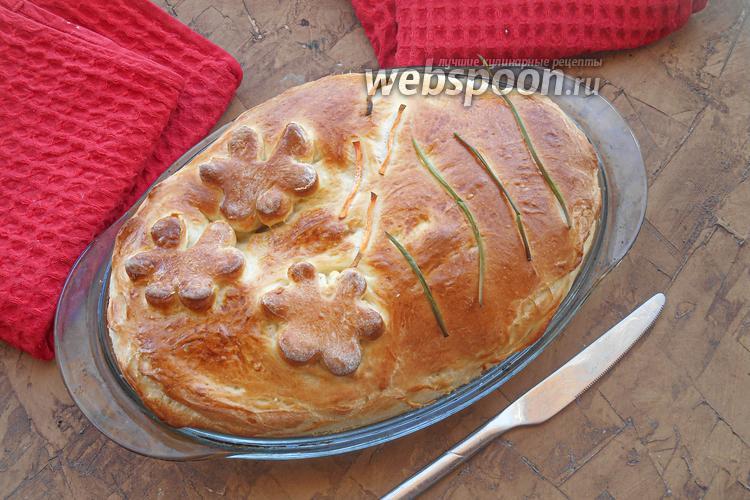 Фото Закрытый мясной пирог со свининой