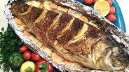 Фото рецепта Толстолобик с овощами, запечённый в фольге