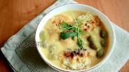 Фото рецепта Гороховый суп-пюре с оливками
