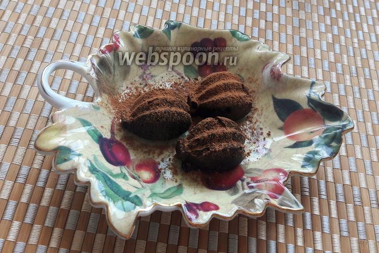 Фото Кето-конфеты с миндалём и горьким шоколадом