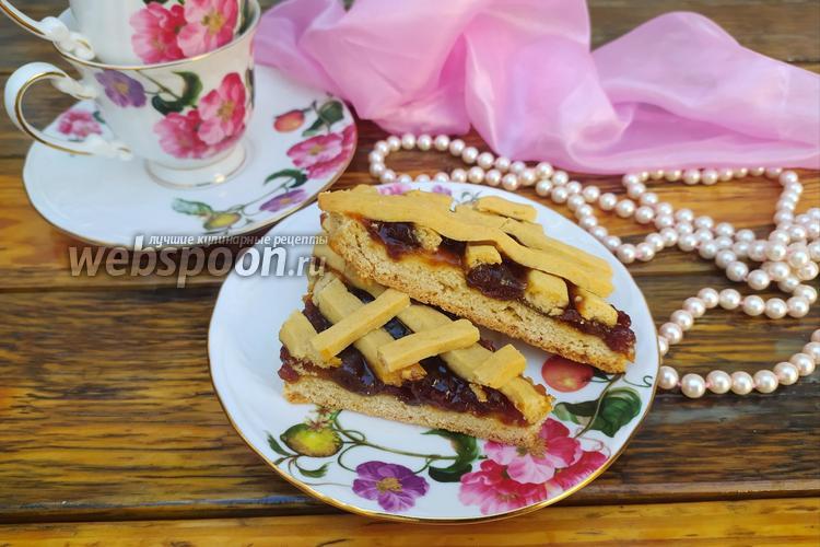Фото Песочный пирог с вареньем на сыворотке