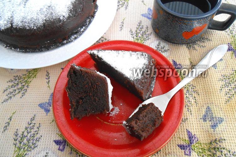 Фото Шоколадный пирог в микроволновке