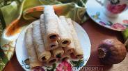 Фото рецепта Песочные трубочки с маком и изюмом