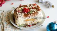 Фото рецепта Желейный десерт из йогурта и савоярди