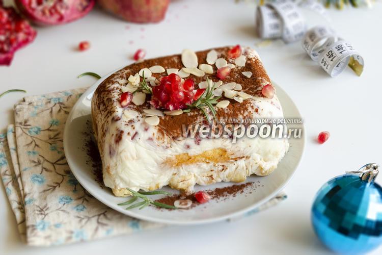 Фото Желейный десерт из йогурта и савоярди