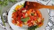 Фото рецепта Тилапия, запечённая с овощами в духовке