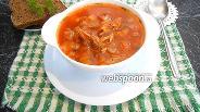 Фото рецепта Быстрый борщ с томатным соусом без зажарки в мультиварке