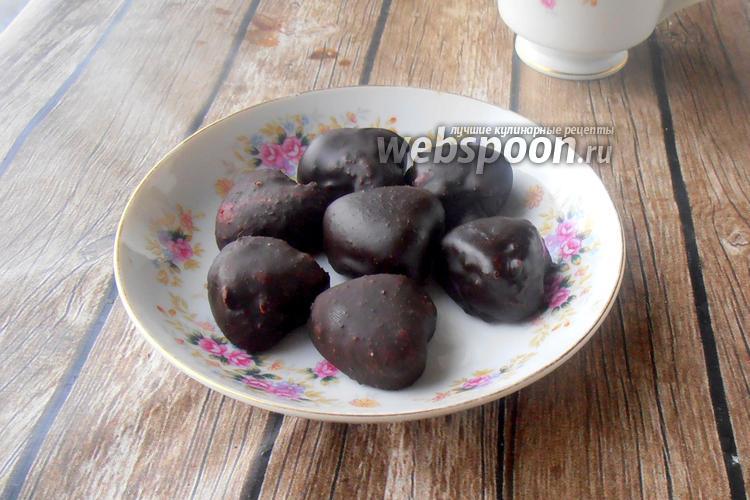Фото Домашние конфеты «Вишнёвое желе в шоколаде»