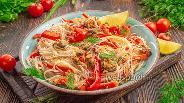 Фото рецепта Рисовая лапша с мидиями