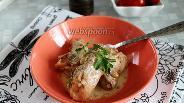 Фото рецепта Кролик в казане со сметаной