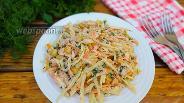 Фото рецепта Овощной салат с куриным бедром