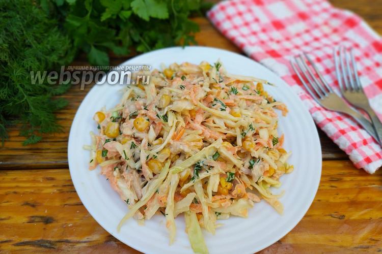 Фото Овощной салат с куриным бедром