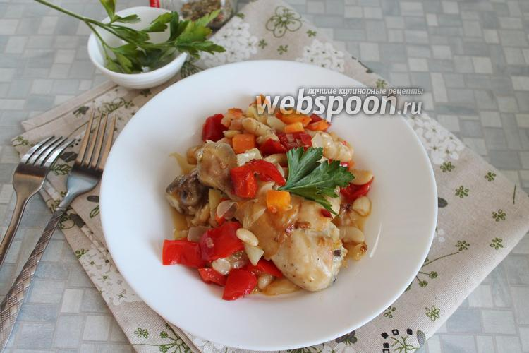 Фото Куриные голени в маринаде из перцев в духовке