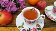 Фото рецепта Чёрный чай с яблоком и апельсином