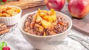Фото рецепта Овсянка с яблоком и шоколадом