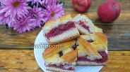 Фото рецепта Сдобный пирог с яблочно-вишневой начинкой