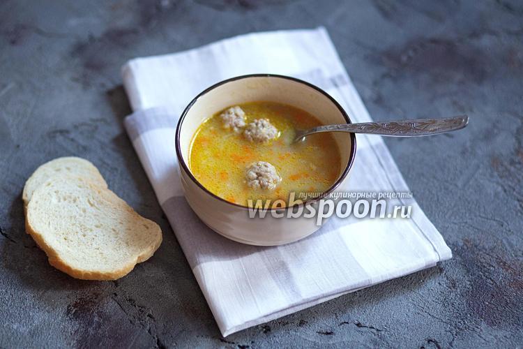 Фото Ячневый суп с фрикадельками
