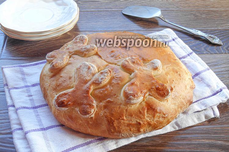 Фото Закрытый мясной пирог с куриной грудкой