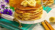Фото рецепта Банановые панкейки на рисовой муке
