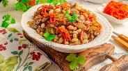 Фото рецепта Салат из куриной печени и моркови по-корейски