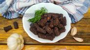 Фото рецепта Сухарики из бородинского хлеба с кетчупом и чесноком