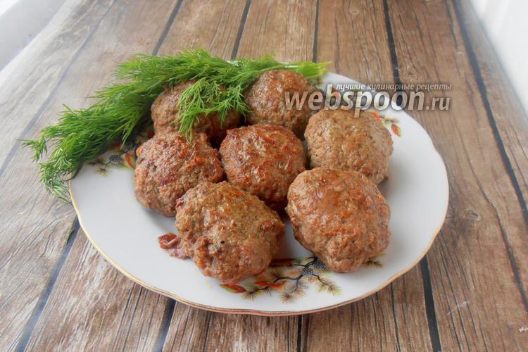 Фото Котлеты из говядины с печенью и шампиньонами