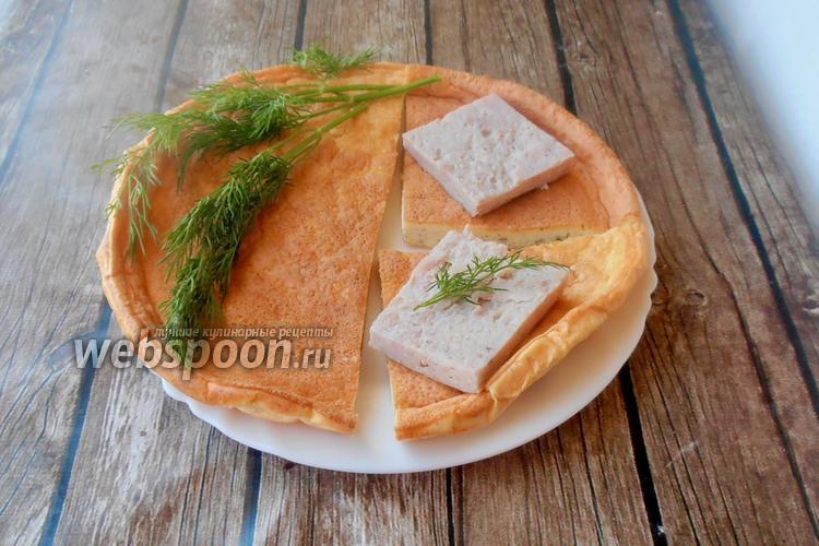 Фото Кето хлебная лепёшка без муки на альбумине