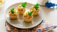 Фото рецепта Вафельные тарталетки с тунцом